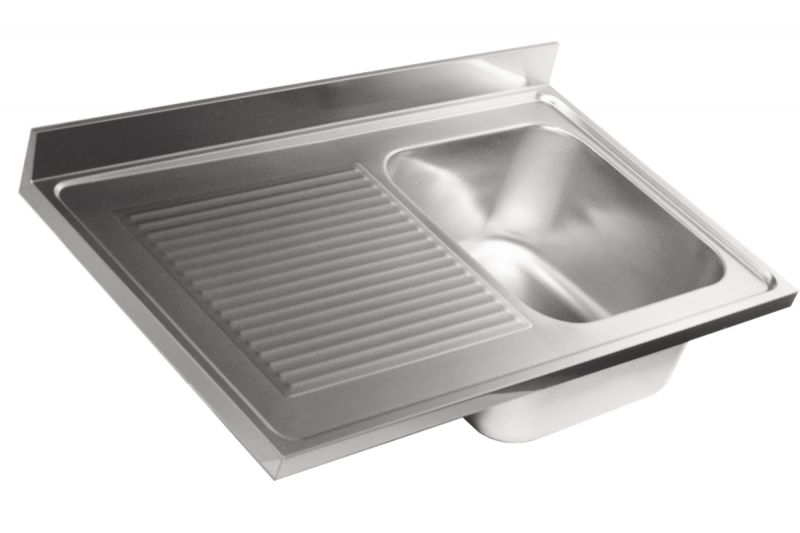 Stainless Steel Sink Tops : LV6007 Top sink Aisi304 stainless steel dim.1000X600 1 bowl 1 drainer ...