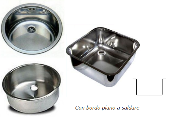 Welded stainless steel sinks