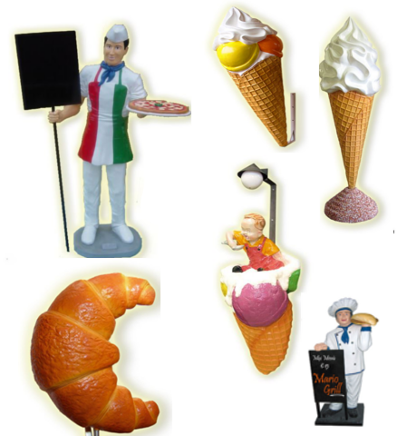 Accessories advertising for restaurant icecream shops