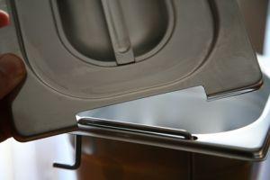 CPR1/3M Coperchio 1/3 in acciaio inox AISI 304 con spacco maniglie
