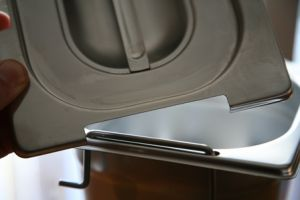 CPR1/4M Coperchio 1/4 in acciaio inox AISI 304 per Gastronorm con maniglie