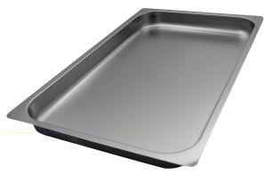 FNC1/1P040 Teglia  Gastronorm 1/1 h40 in acciaio inox AISI 304 bordo piano