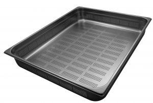 GST2/1P150F Récipient Gastronorm 2 / 1 H150 perforée en acier inox AISI 304