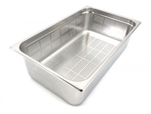 GST1/1P150F Gastronorm Container 1 / 1 h150 perforated stainless steel AISI 304