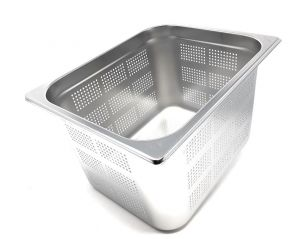 GST1/2P200F Gastronorm Container 1 / 2 h200 perforated stainless steel AISI 304