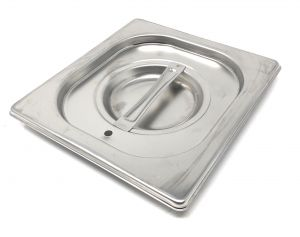 CPR1/6T couvrent 1 / 6 en acier inox AISI 304 avec joint d'étanchéité