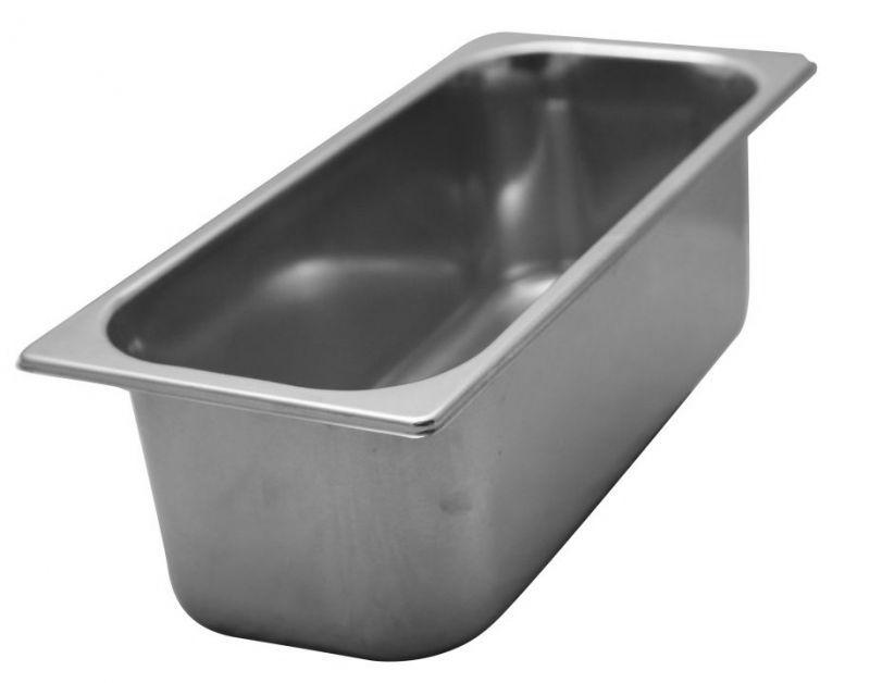 Vaschetta gelato in acciaio inox aisi 304 18 10 capacit for Prezzo acciaio inox al kg