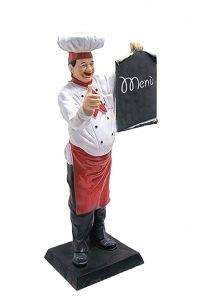ER004 Chef de cuisine en trois dimensions avec tableau 140 cm de hauteur