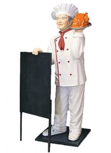 ER005D Chef with kitchen three-dimensional high 140 cm