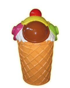 SG089 Gelato portarifiuti - portarifiuti pubblicitario 3D per gelateria altezza 135 cm