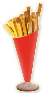 SR007 papas fritas - cono de papa de publicidad 3D para una altura de 180 cm