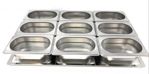 TIMGS19 Gastronorm 1/1 stainless steel frame for 9 GN 1/9 containers