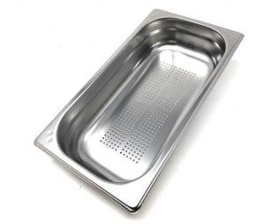 GST1/3P040F Recipiente Gastronorm 1/3 h40 perforado en acero inoxidable AISI 304