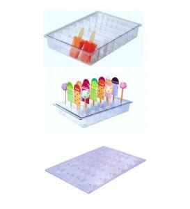 ITP806 Soporte de barra + soporte de barra vertical de policarbonato para vitrinas de helados