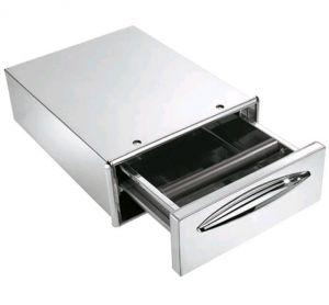 ICCBP40 Cajón de café en acero inoxidable profundidad de cajón 45,6 cm