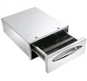ICCBP40 Coffee drawer in stainless steel drawer depth 45.6 cm