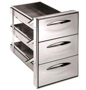 ICCS13 40GS Cajón simple de acero inoxidable 1/3 Esquinas redondeadas Profundidad del cajón 43,1 cm