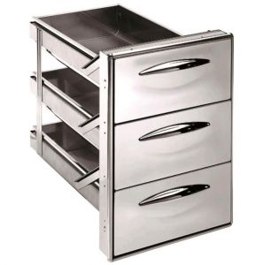 ICCS13 40GS Stainless steel drawer 1/3 simple Rounded corners Drawer depth 43.1 cm