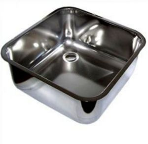 LV33/33P square stainless steel sink dim. 330x330X200h welded with waste