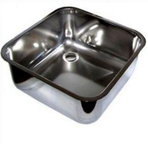 LV40/40/25 cuve de lavage inox à souder dim. 400x400x250h