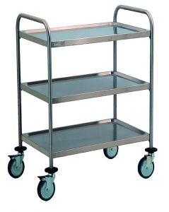TEC1111 Cart Technical stainless steel AISI 304 3 shelves disassembled 60x44x95h