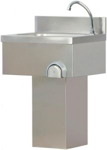 TLC 50 lavabo en acier inoxydable avec colonne