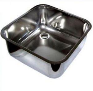 LV45/45/20 cuve de lavage inox à souder dim. 450x450x200h