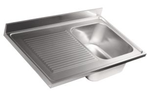 LV7013 Top sink Aisi304 stainless steel sink dim.1200X700 1 bowl 1 drainer left