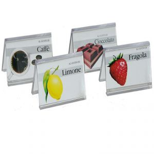 IGP370 10 - plexiglass cartes Tags goût neutre