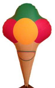 GOTX001 Cono de helado inflable 125h cm