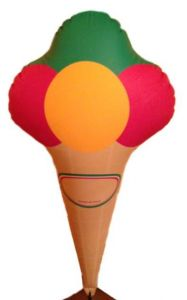 GOTX001 Inflatable Ice Cream Cone 140 cm
