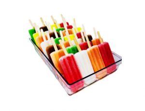 VGGR10P Pan pour bâtons de crème glacée polycarbonate transparent