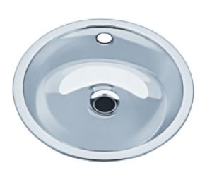 LX1150 Circular stainless steel wash basin, decentralized, 340x385x156 mm- SATIN -