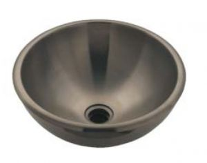 LX1210 Double wall stainless steel countertop basin 330x370x165 mm -LUCIDO-