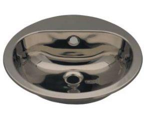 LX1240 Lavabo circular con orificio para grifería en acero inoxidable 414x490x160 mm - SATIN-