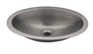LX1280 Oval basin in stainless steel 510x390x155 mm - LUCIDO -