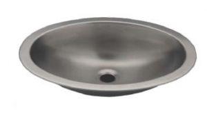 LX1310 Lavabo ovalado en acero inoxidable 380X280X125 mm - LUCIDO -