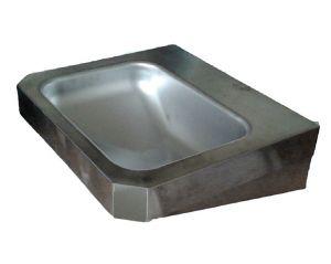 """LX1360 Lavabo rectangulaire """"Chigi"""" avec étagères en acier inoxydable 500x445x133 mm -SATINATO -"""