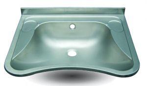 LX1490 Lavabo pour personne à mobilité réduite en acier inoxydable AISI 304 650x540x156 mm - SATIN-