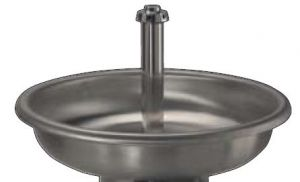 LX1600 Circular basin stainless steel only bathtub diam.1000x250 mm