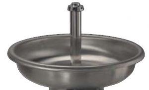LX1600 Lavabo circular de acero inoxidable solo bañera diam.1000x250 mm
