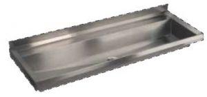 LX1730 Canalone au niveau des plis 1250x400x122  mm AISI 304 mm AISI 304 - SATIN