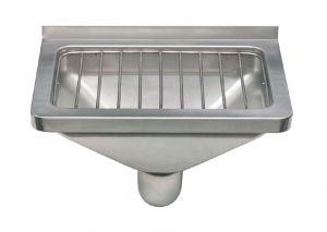 LX1900 Réservoir de vidange avec grille en acier inoxydable AISI 304 dim. 470x332x185