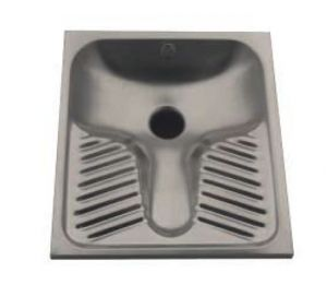 LX2050 WC turc en acier inoxydable 590x670x160 mm encastré