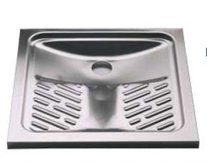 LX2070 WC alla turca in acciaio inox 900x900x136 mm da appoggio