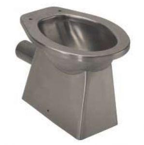 LX3000 WC in acciaio inox carenato scarico pavimento 520x365x375 mm - SATINATO -