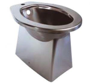 LX3030 Bidet carenato in acciaio inox 520x365x375 mm - SATINATO -