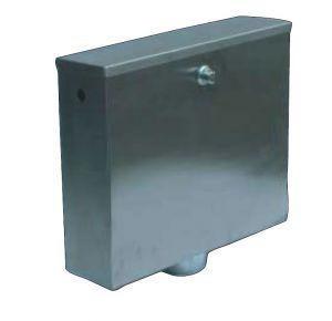 LX3190 Cassetta di scarico a pulsante o pneumatica 400x112x373 mm SATINATO