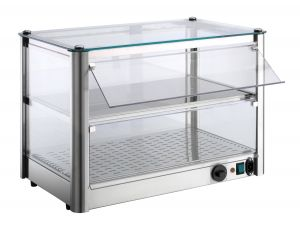 VKB32R Counter top display cabinet Hot 2 FLOORS made of stainless steel sheet