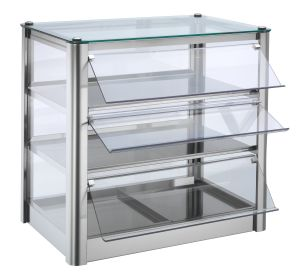 VKB53N Neutral countertop display cabinet 3 SHELVES in stainless steel sheet